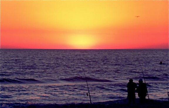 sunset-fishermen