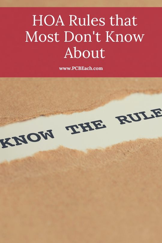 HOA Rules that Most Don't Know About