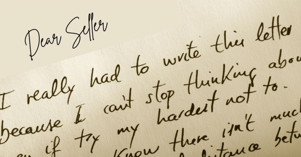 Personal Love Letters to Sellers Aren't Cutting It Right Now